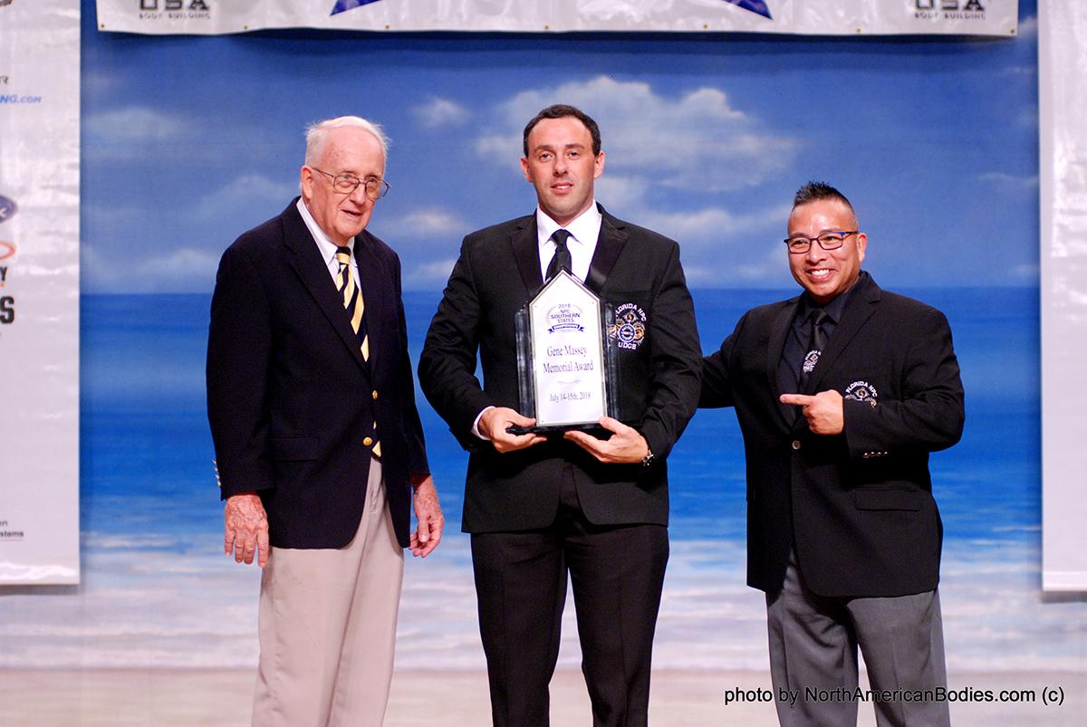 Gene Massey Memorial Award Winner Serge Saric with Peter Potter and Calvin Choy
