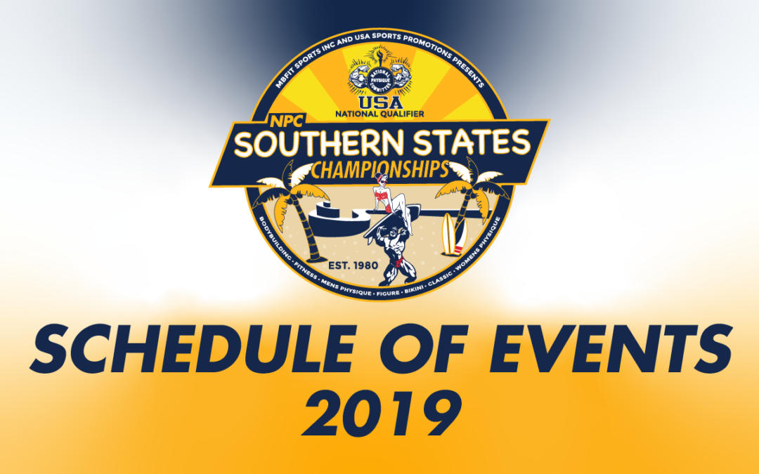 2019 Schedule of Events