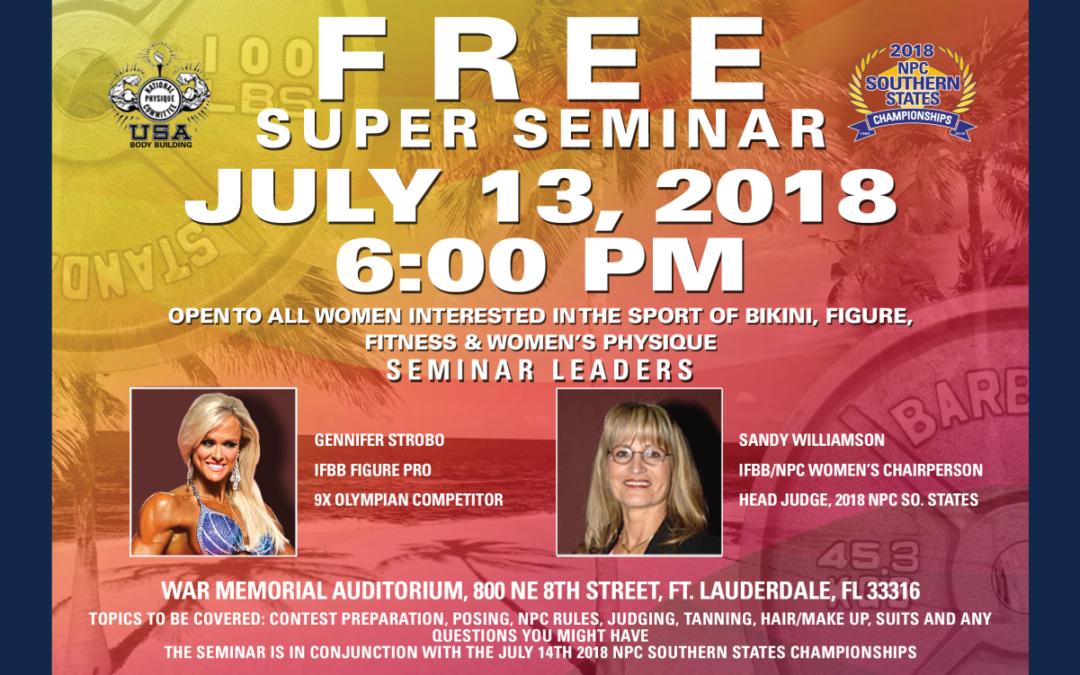 Free Super Seminar July 2018